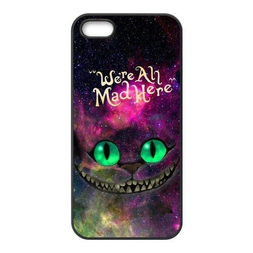 iPhone, Alice In Wonderland Ceshire Cat Ultra Slim Translucent Silicone Clear Case Gel Cover for Apple ( iPhone 5 / 5s)