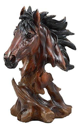 Ebros Wild Stallion Horse Bust Statue 11