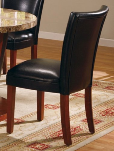 Atrium black leather parson chair onlineproduct review for Black leather parsons chairs
