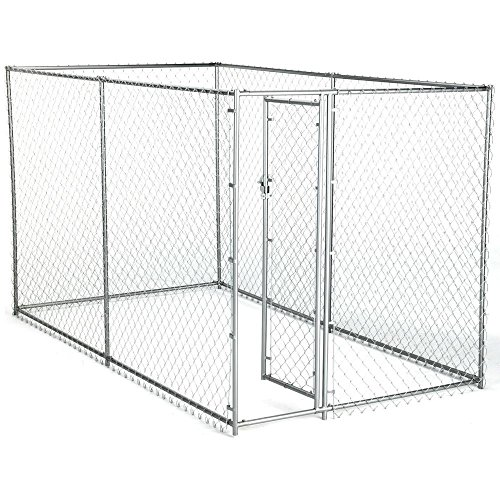 Dog Kennel For XXL Dogs Large Breed Chain Link Outdoor Dog Run 6 x 10 x 6