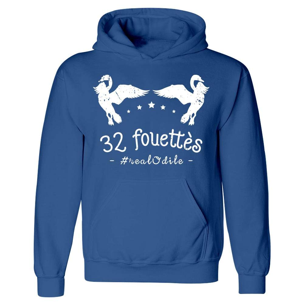 Funny Swan Hoodie Long Neck Birds 32 Fouettes