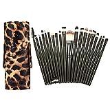 JD Million shop Hot sell 20Pcs Makeup Brush Set Kits + Leopard PU Holder Box For Cosmetic Make up Set