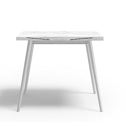 ARREDinITALY Tavolo quadrato moderno Raddoppiabile - Struttura ...