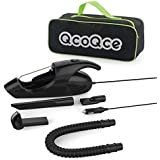 Car Vacuum Cleaner, QcoQce 12V 80W 3KPA Portable Dry Mini Handheld Car Vacuums Auto/Automotive Handvac Cyclonic Car Vacuum Cleaner with 12 FT(3.6M)Power Cord and Carrying Bag