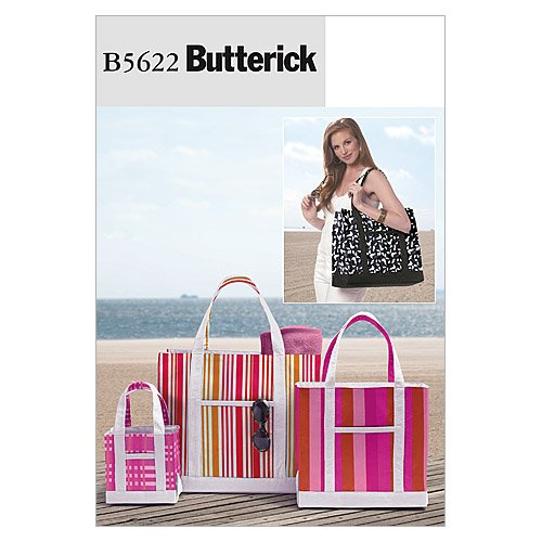 Butterick Patterns B5622 Tote In 3 Sizes, All Sizes