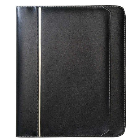 - SmartTravel4Less Excutive Leatherette Zippered Around 3 Rings Binder Padfolio