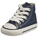 Converse Unisex Baby Infant Chuck Taylor All Star Hi Top - Navy - 3 Infant
