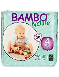 Bambo Nature Premium Baby Diapers, Size 4 (15-40 lbs), 180 Count (6 Pack of 30) BOBEBE Online Baby Store From New York to Miami and Los Angeles