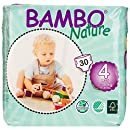 Bambo Nature Premium Baby Diapers, Size 4 (15-40 lbs), 180 Count (6 Pack of 30)