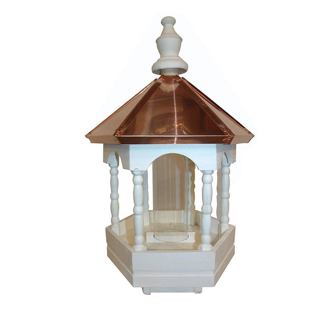 Polished Copper Top Bird Feeder with Fancy Columns, All Have Copper Roofs that are Hand Formed to Fit Perfectly by Generic