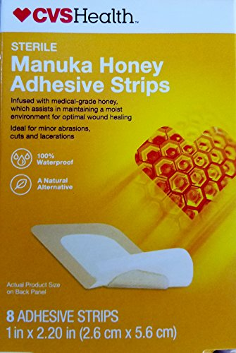 "CVS Health Sterile Manuka Honey Adhesive Strips 1"" x 2.20"", 8CT from CVS"