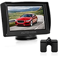 "Auto-Vox M1 4.3"" TFT LCD Backup Camera Kit Parking Assistance System with Night Vision, Easy Installation HD Rear View Back Up Monitor Waterproof License Plate Reverse Camera For Trucks,Ford,Toyota"