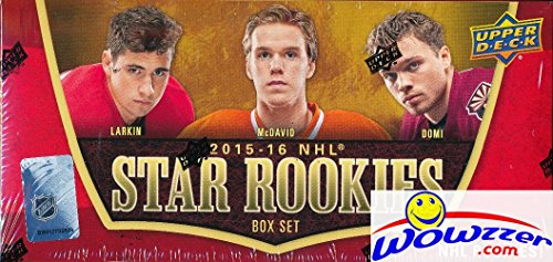 2015/16 Upper Deck NHL Hockey Factory Sealed STAR ROOKIE Box Set with 25 Rookie Cards of the NHL Young Superstars including Connor McDavid, Jack Eichel, Artemi Panarin & More! Look for Rare Autographs