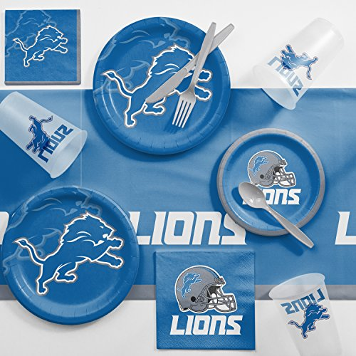 Creative Converting Detroit Lions Game Day Party Supplies Kit, Serves 8