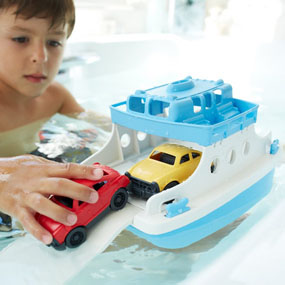 Green Toys Ferry Boat  Green Toys Ferry Boat with Mini Cars Bathtub Toy, Blue/White 513jcYiWOpL
