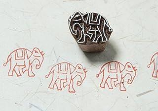 Blockwallah Tiny Elephant Wooden Block Stamp