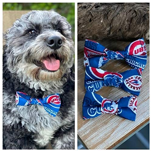Chicago Cubs Baseball dog Bow Ties Cubs dog lovers bow tie The Chicago Cubs MLB bow ties!
