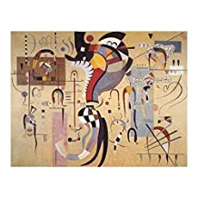 Posters: Wassily Kandinsky Poster Art Print - Cheerful Structure, 1926 (39 x 28 inches)