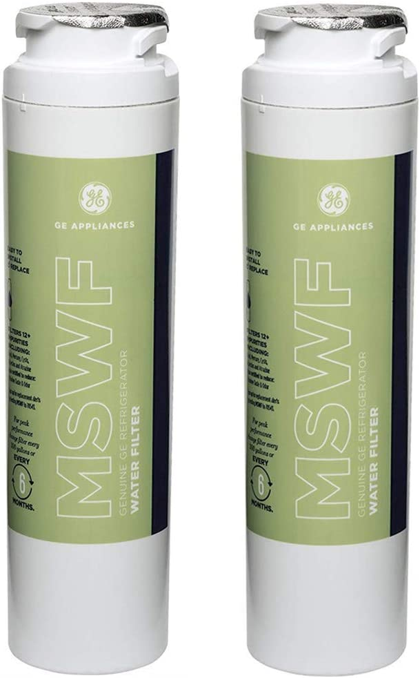 GE MSWF Refrigerator Water Filter, 2 Pack