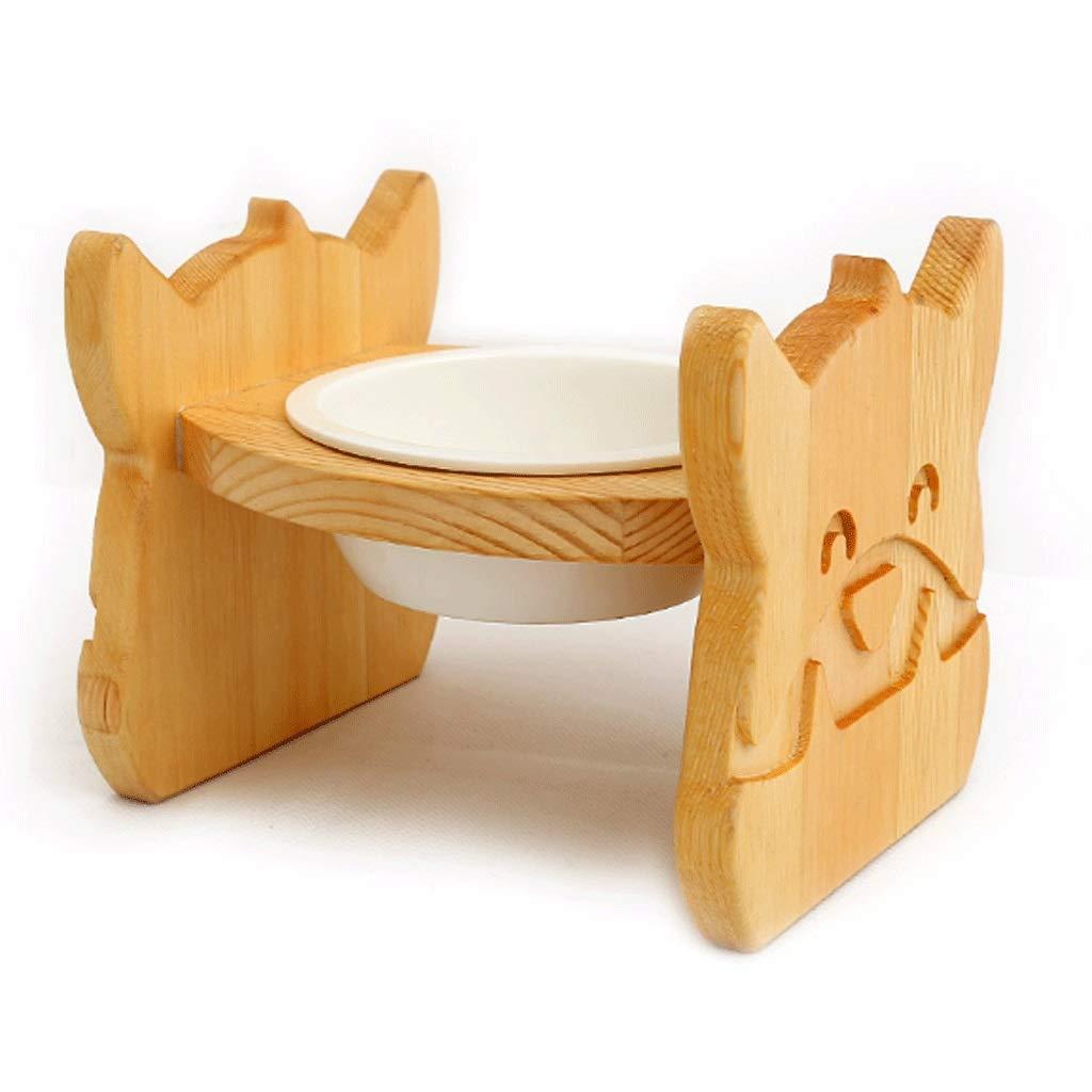 GJ Ciotola Singola in Ceramica massiccia in Legno massello (Dimensioni (Dimensioni (Dimensioni   L.) f776b5