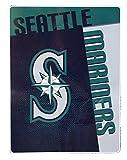 Seattle Mariners MLB Logo Strike Raschel Plush 60x80 Twin Size Throw/Blanket