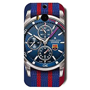 Popular Design FC FC Barcelona Team Logo Phone Case Cover For Htc One M8 3D Plastic Phone Case