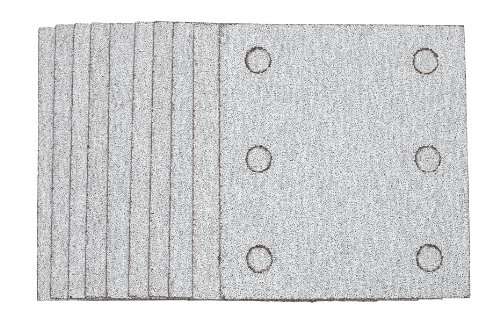 Hitachi 310348 4-3/8-Inch by 4-Inch Perforated Self-Adhesive Sandpaper with AA80 Grit, 10-Pack