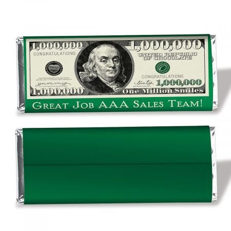 Personalized 1 Million Dollar Candy Bar Wrapper- Set of 24]()
