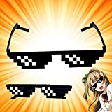 Pandaie Toy,Thug Life Glasses 8 Bit Pixel Deal With IT Sunglasses Unisex Sunglasses Toy,Fun Toys for 1 2 3 4 5 6 7 8 9 10 year old