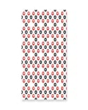 Lunarable Poker Wall Art, Circular pattern with Playing Card Suits Hearts and Clubs Geometric Inspirations, Gloss Aluminium Modern Metal Artwork for Wall Decor, 11.6 W X 23.5 L Inches, Red Black White