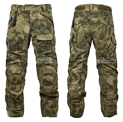 Tactical Combat Pant Hiking Hunting Airsoft SWAT Military Camo Army Trousers Wearproof Ripstop Pants with Knee Pads