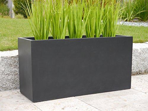 Pflanztrog der LANDESGARTENSCHAU BADEN-W. aus Fiberglas 80x30x40cm in schwarz, Blumenkübel, Pflanzkübel, Pflanztröge, groß