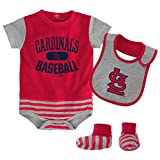 MLB St. Louis Cardinals Infant Boys Bib & Booty-18 Months, Athletic Red