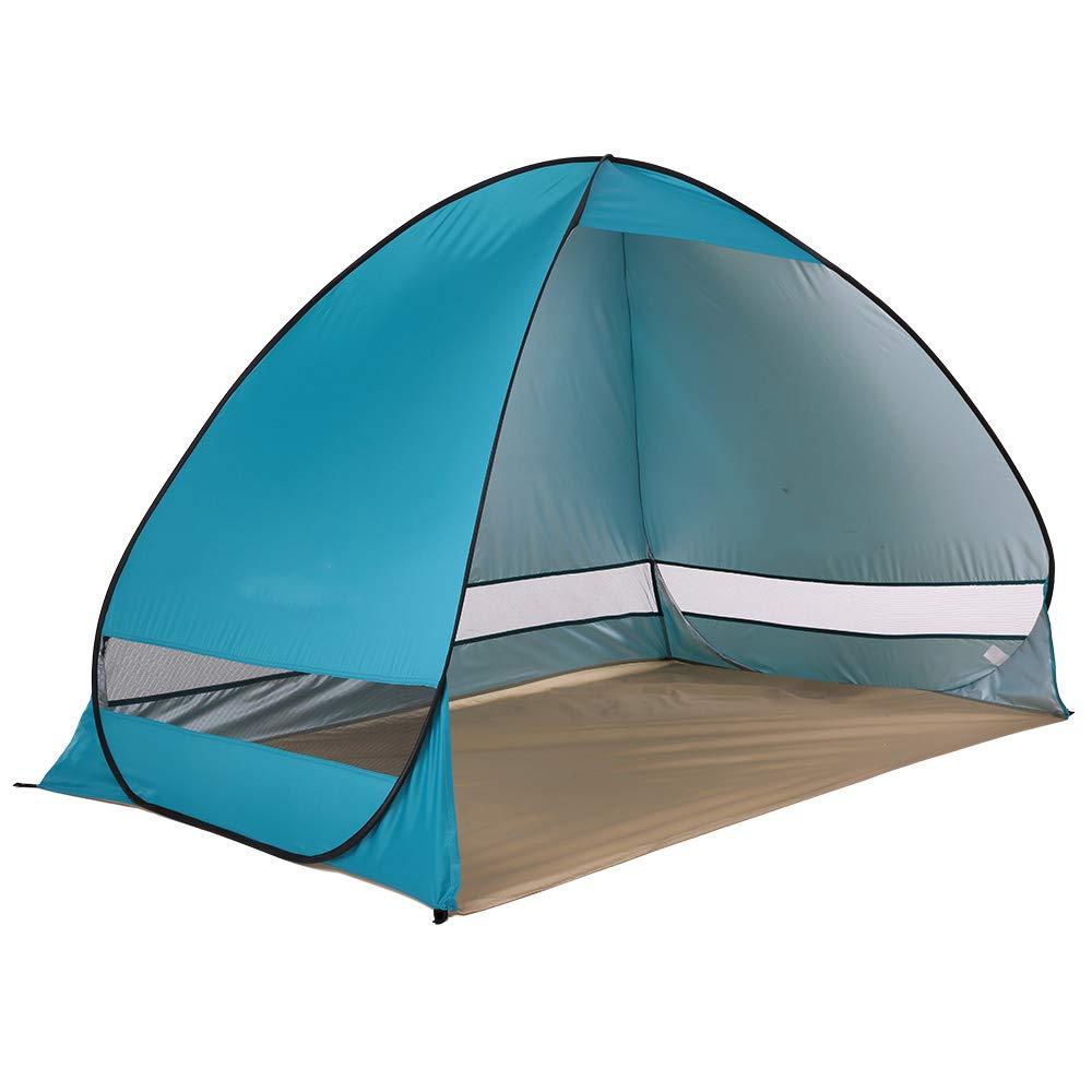 ThyWay アウトドア 1~2人用 キャンピングテント クイック自動開閉 防水 UV ビーチ サンシェード キャノピー  レッド B07MXCR2TZ
