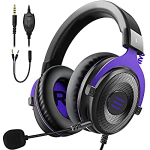 EKSA Gaming Headset for Xbox One – PC Headset 3D Stereo Sound Headset Detachable Noise Cancelling Microphone – Gaming…