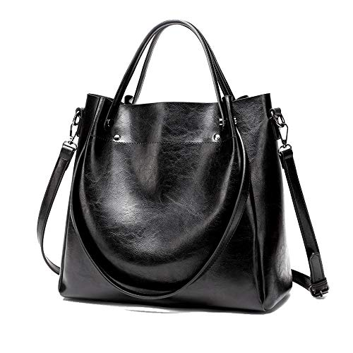 Women Hobo Bags Satchel Handbags Soft Fashion Shoulder Bags Classic Tote Lady Purses Designer Woman Bags (New Black1)