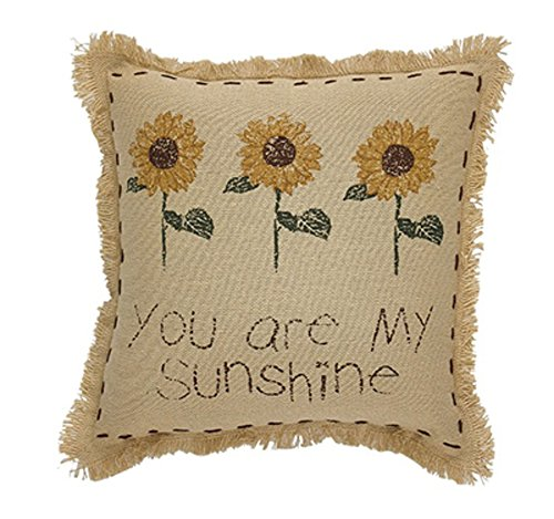 - Park Designs You are My Sunshine, Sunflower Accent Pillow, 10 Inch