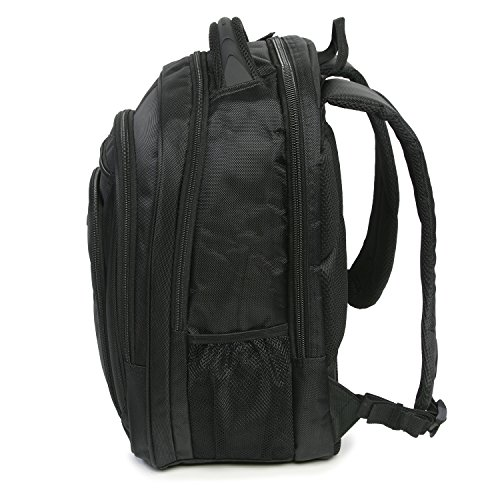 513jgQrGwoL - Perry Ellis M150 Business Laptop Backpack, Black