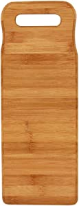 TOPBATHY Bamboo Wood Washing Clothes Washboard Laundry Washboard Hand Wash Board for Home(40X15X1.8CM)