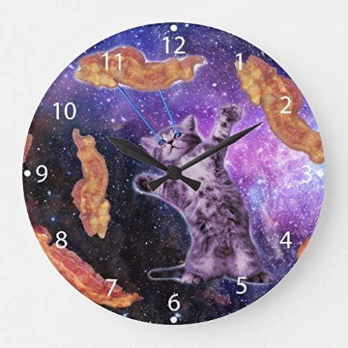 AmyyEden - Reloj de Pared de Madera con diseño de Gato con láser, números Romanos, 12 Pulgadas: Amazon.es: Hogar