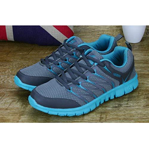 Aire Moda Sneakers Deportivos Lago Unisex Ligero Zapatillas Zapatillas Running Mujeres Hombres Deportes Zapatos Libre Verde Al Respirable de Casuales A8ZqwpZO