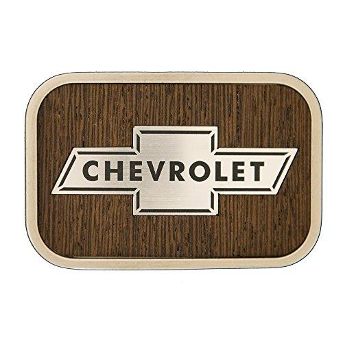 Buckle Barn Brand Chevrolet Logo Walnut Wood Belt Buckle - 2325