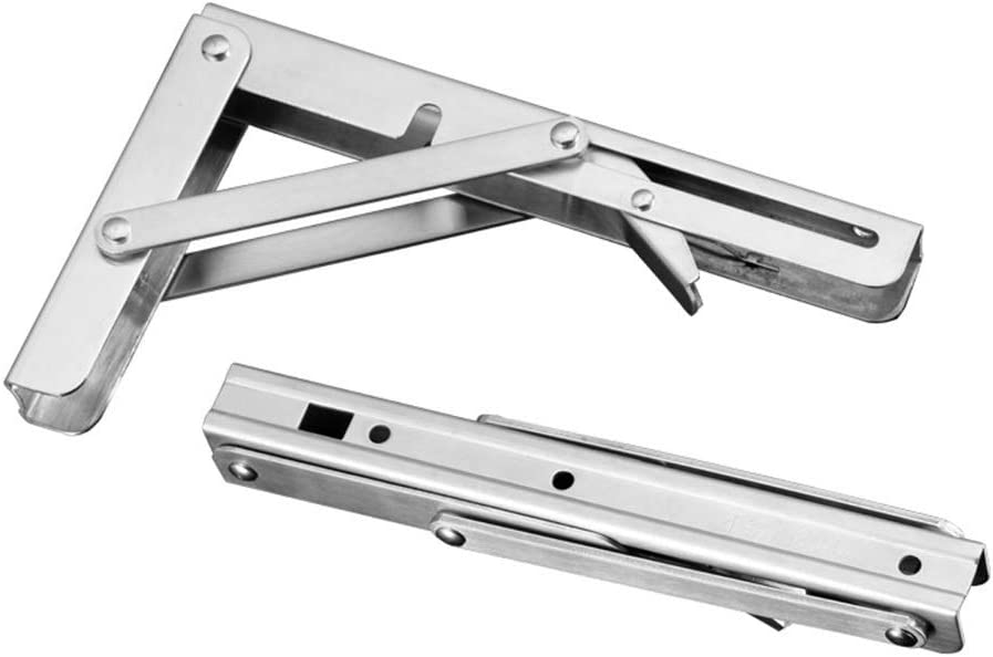Folding Bracket for Shelves Tables Saving Release Space Standing Wall-Mounted for Home,Room Kitchen 2 Pack