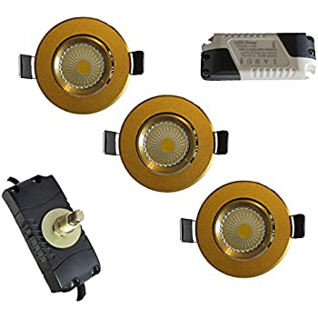 Pack of 10 LED Mini Small spotlights Fixtures/Recessed