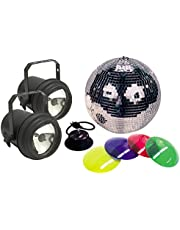 American DJ M-502L 12 Inch Mirror Ball Package With 2 Pinspots