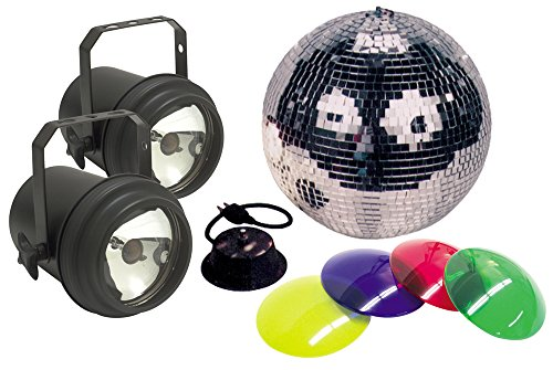 American Dj M-502L 12 Inch Mirror Ball Package With 2 Pinspots -