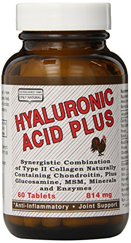 Only Natural Hyaluronic Acid Plus, 60-count (Pack of 12) by Only Natural