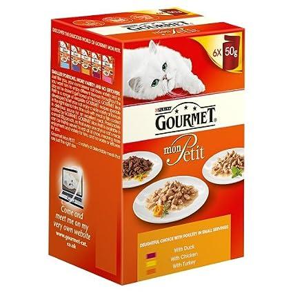 Purina Gourmet Mon Petit - Comida para gato mojado, 300 g (paquete de 6