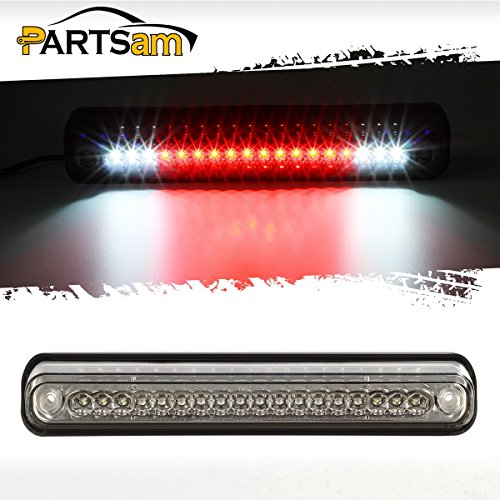 Partsam Third Brake Light Replacement for Chevy and GMC 1994-1999 C/K 1500 2500 3500 Red/White LED Clear Lens High Mount 3rd Third Brake Light Rear Tail Cargo Lamp