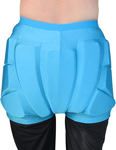 MALY Protective Hip,Padded Pants Lightweight Protective Gear Breathable Shatter-Resistant Protective Butt Shorts for Ski Skate Snowboard Volleyball Motorcross Cycling Black